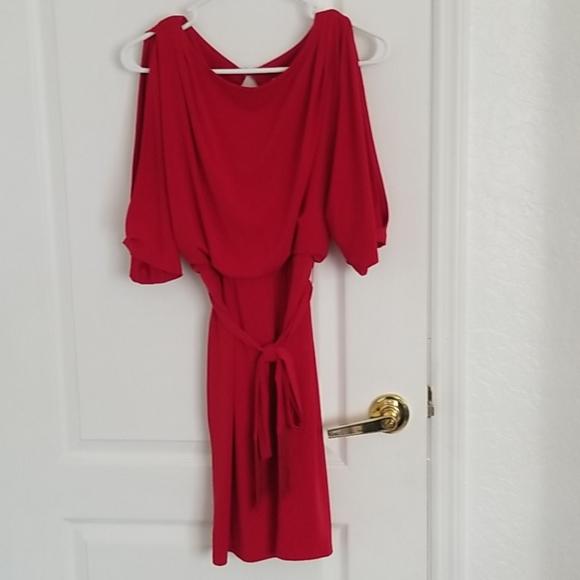 Jessica Simpson Cold Shoulder Red Dress